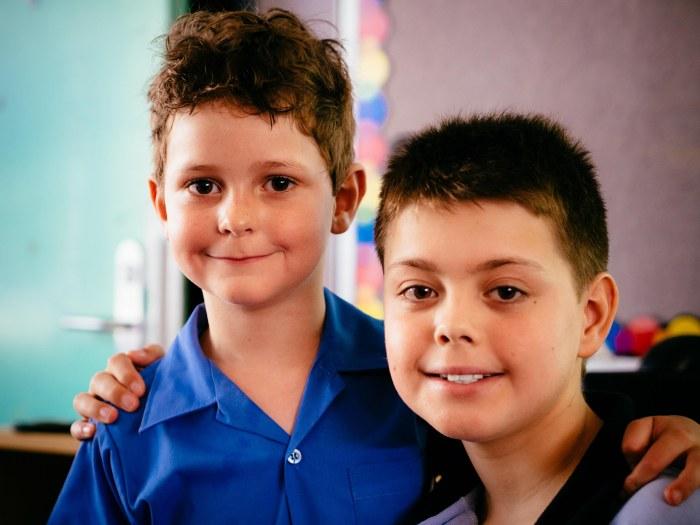 Hudsyn with his buddy Daniel.